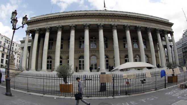 La Bourse de Paris, le 22 septembre 2011.