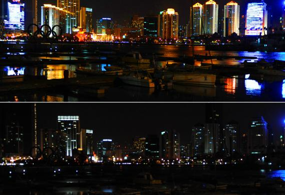 Les buildings de Qingdao, en Chine.