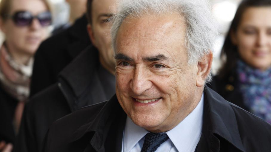 Dominique Strauss-Kahn à Kiev en Ukraine le 4 avril 2012.