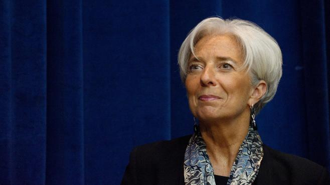 La directrice générale du FMI, Christine Lagarde, à Washington, le 20 avril 2012.