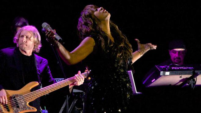 Donna Summer sur scène à New York le 27 septembre 2010.