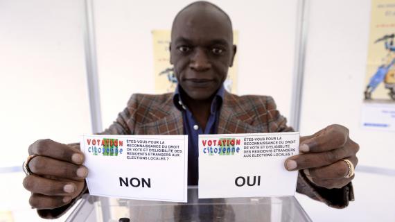 Le collectif Votation citoyenne, qui milite pour le droit de vote des étrangers,a organisé son propre référendum, à Paris, le 23 mars 2008.