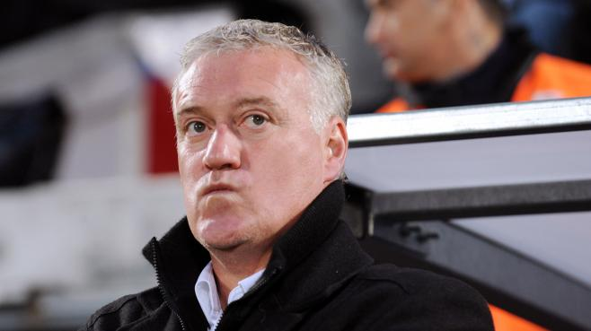 Didier Deschamps, le 21 avril 2012 au stade Chaban-Delmas, à Bordeaux.