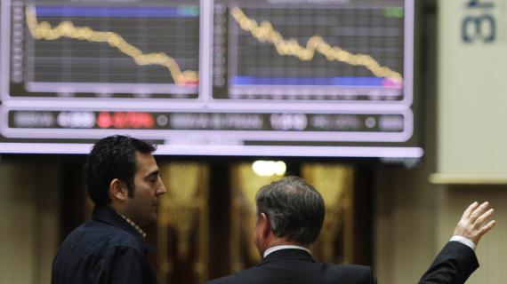 La Bourse de Madrid(Espagne), le 23 avril 2012.
