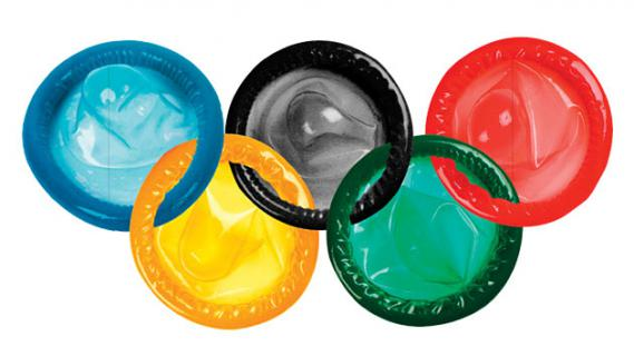 Durex advertising during the Olympics.