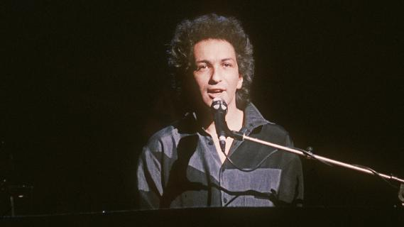 Michel Berger au Zénith de Paris (France), le 11 avril 1986.