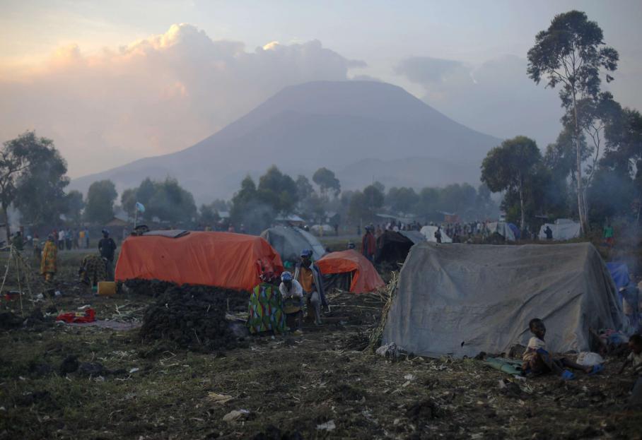 Pourtant, la vie dans le Nord-Kivu n'a rien d'enviable. La population a fui des combats pour venir se réfugier dans des camps de fortune, près de Goma, comme ici, le 3 août 2012.