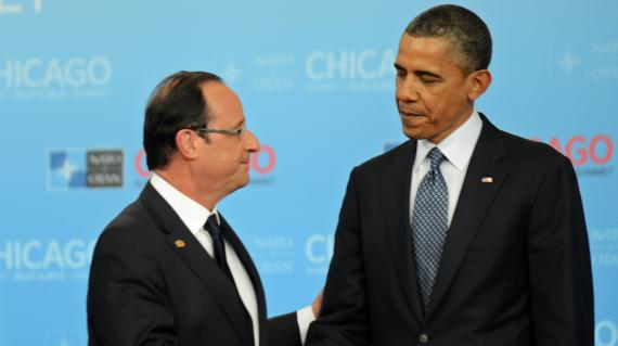 François Hollande et Barack Obama à Chicago, le 20 mai 2012.