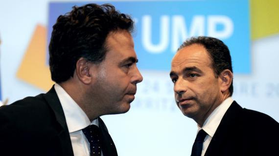 Luc Chatel et Jean-François Copé, le 24 septembre 2010 à Biarritz (Pyrénées-Atlantiques).