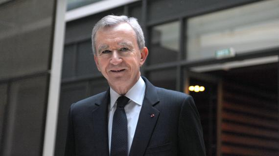 Bernard Arnault, patron du groupe de luxe LVMH, à Paris, le 4 février 2012.
