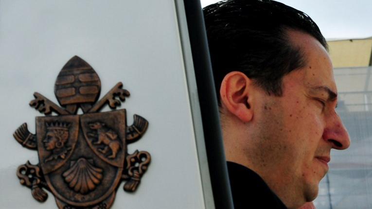 Le majordome de Benoît XVI, <b>Paolo Gabriele</b>, le 25 avril 2012 dans - 911869