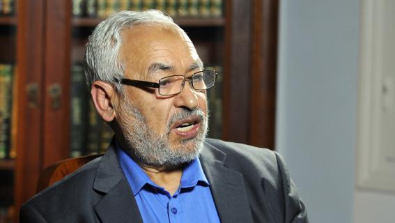 Rached Ghannouchi, chef de file des islamistes tunisiens d'Ennahda, le 20 septembre 2012 à Tunis.