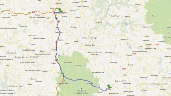 L'hôpital le plus proche de Figeac (Lot) se situe à Brive-la-Gaillarde à une heure de route.