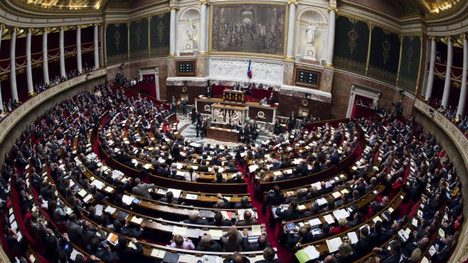 L'Assemblée nationale, à Paris, le 2 octobre 2012.