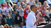 Barack Obama au Delray Beach Tennis Center, en Floride (Etats-Unis), le 23 octobre 2012.