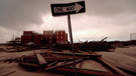 Atlantic City, dans le New Jersey, a été dévastée par le passage du cyclone Sandy, dans la nuit du 29 au 30 octobre 2012.