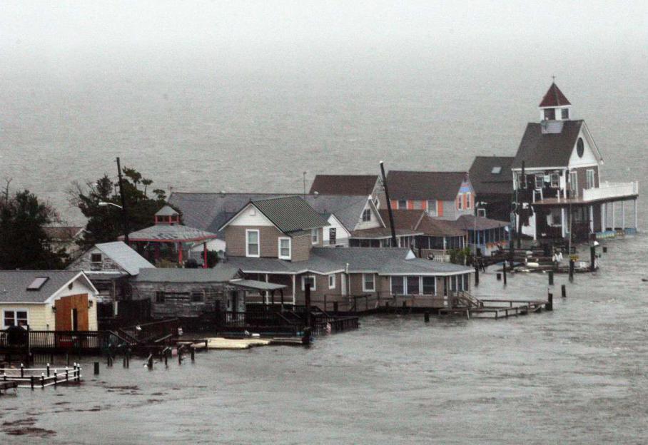 Les inondations ont également touché le New Jerseycomme ici à North Wildwood. C'est par cetEtat voisin de New York que le cyclone post-tropical a touché la côte des Etats-Unis.