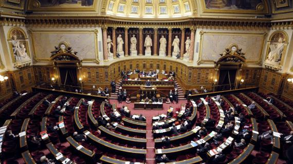 L'hémicycle du Sénat le 16 octobre 2012.