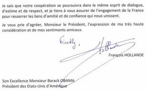 Lettre De Hollande à Obama La Faute D Anglais Qui Amuse