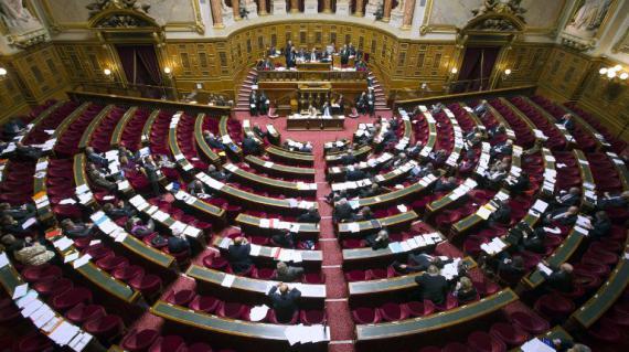 Vue générale du Sénat, le 13 novembre 2012, à Paris.