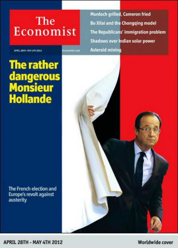 "La une de l'édition de ""The Economist"" du 28 avril 2012."