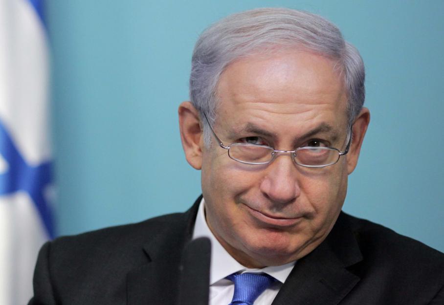 """Le Premier ministre israélienBenyamin Netanyahu lors d'une conférence de presse jeudi 15 novembre 2012, au cours de laquelle ila assuré que l'Etat hébreu allait """"continuer à mettre en œuvre toute action nécessaire pour défendre sa population""""."""