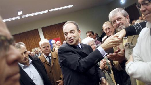 Le président de l'UMP, Jean-François Copé, lors d'un meeting à Rouen (Seine-Maritime), le 17 novembre 2012.