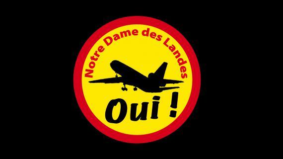 Un logo des partisans du projet d'aéroport à Notre-Dame-des-Landes (Loire-Atlantique).
