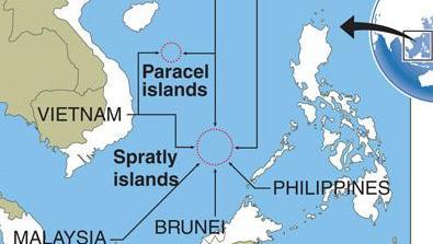 Carte Chine Philippines.Iles Spratleys Le President Philippin Duterte Moins