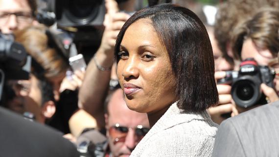 Nafissatou Diallo, qui accusait Dominique Strauss-Kahn d'agression sexuelle, le 22 août 2011 devant le tribunal de New York (Etats-Unis).