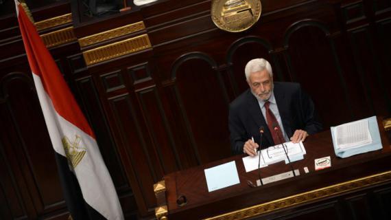 Le juge Hossam El-Ghiriani, président de la commission constituante, le 29 novembre 2012 au Caire (Egypte).