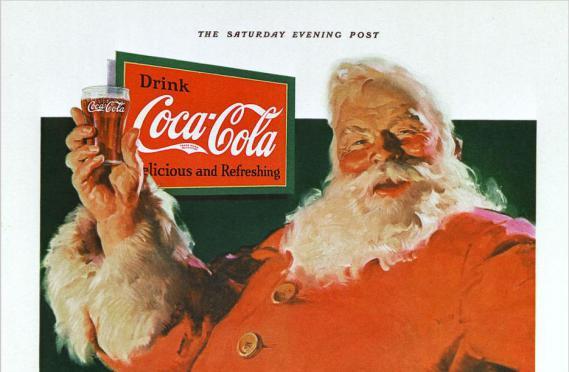 Première publicité de Coca-Cola utilisant l'image du père Noël, en 1931.
