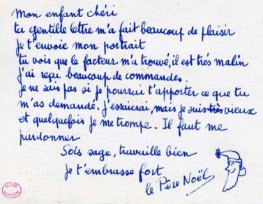 Cette réponse du père Noël à une lettre d'enfant a été rédigée par Françoise Dolto en 1962.