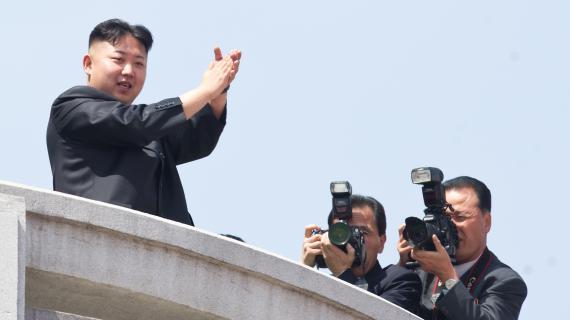 Le dirigeant nord-coréen Kim Jong-un, le 15 avril 2012 à Pyongyang (Corée du Nord).