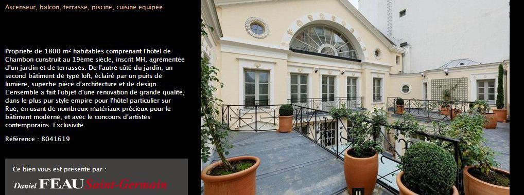 g rard depardieu a mis en vente son h tel particulier parisien il y a trois mois. Black Bedroom Furniture Sets. Home Design Ideas