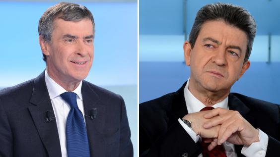 """Jérôme Cahuzac et Jean-Luc Mélenchon sont les invités de """"Mots croisés"""" sur France 2, le 7 janvier 2013 à 22h55."""
