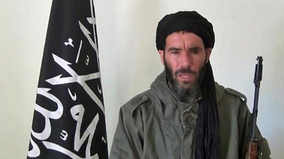 Capture d'écran d'une vidéo de Mokhtar Belmokhtar non datée obtenue par l'Agence Nouakchott d'information, agence mauritanienne.