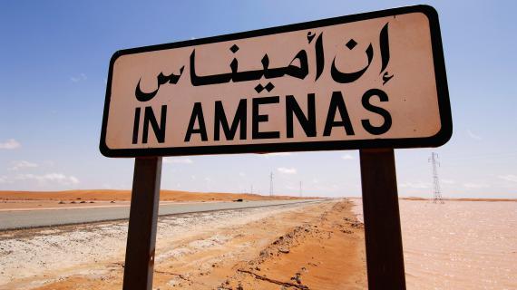 Une photo du groupe pétrolier Statoil, transmise à l'AFP le 17 janvier 2013. Le groupe norvégien opère sur le site gazier d'In Amenas (Algérie) où sont retenus de nombreux otages.