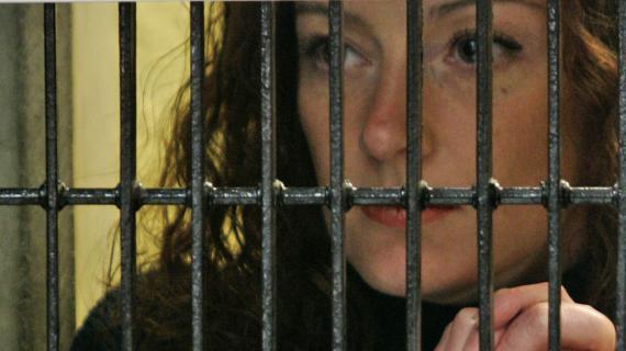 Florence Cassez dans sa prison de Mexico(Mexique), le 22 janvier 2008.