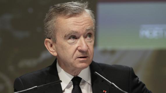 Le patron de LVMH, Bernard Arnault, le 5 avril 2012, lors de l'assemblée générale de son groupe.