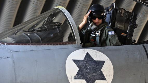 Israël aurait mené un raid aérien à la frontière libano-syrienne dans la nuit du 29 au 30 janvier 2013. Ici, un pilote de l'armée de l'air israélienne, le 19 novembre 2012 lors de l'opération menée à Gaza.