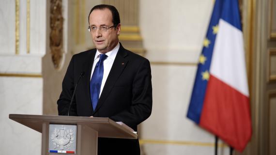 François Hollande, le 12 janvier 2013 à l'Elysée.
