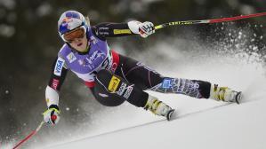 Super-G en Autriche, l''Américaine Lindsey Vonn victime d'une chute