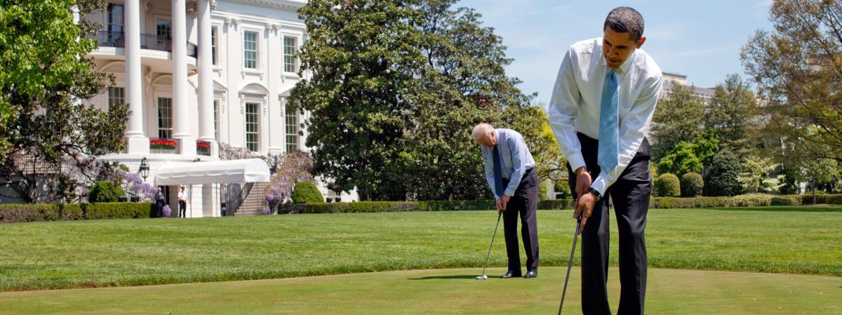 Jouer au golf un sport hauts risques politiques pour for Au coeur de la maison blanche barack obama