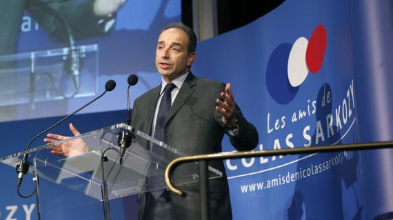 Jean-François Copé, président de l'UMP, lors du colloque des Amis de Nicolas Sarkozy, le 20 février 2013 à Paris.