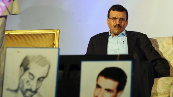 Ali Larayedh, alors ministre de l'Intérieur, assiste au premier congrès du parti Ennahda en Tunisie depuis 24 ans, le 16 juillet 2012 à Tunis.