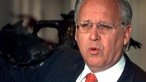 Maurice Taylor, le PDG du fabricant américain de pneus Titan International, le 16 mars 2009 à Des Moines, dans l'Iowa (Etats-Unis).