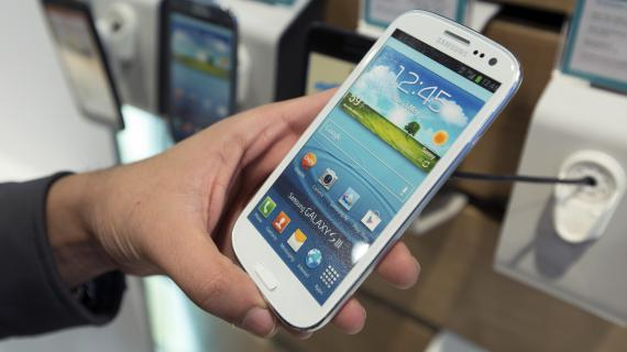 Le Galaxy S3 de Samsung, smartphone adapté à la 4G.