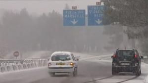 La neige ralentit la circulation dans le Sud-Est