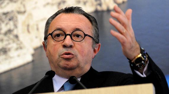 Jean-Noël Guérini lors de ses voeux à la presse le 13 janvier 2012 à Marseille.